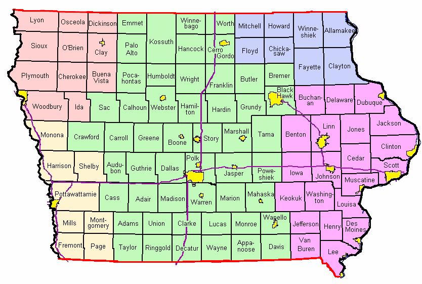 Iowa Fire Weather Map