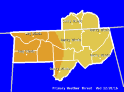 GHWO: Primary Weather Threat Graphic