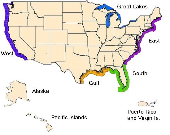 Coastal/Great Lakes Forecasts by Zone