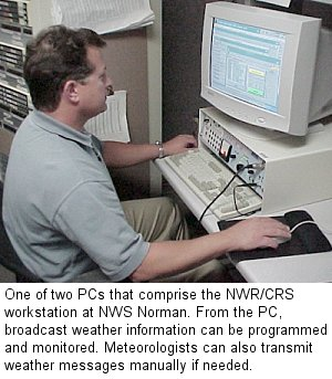 One of Two NWR/CRS Workstations